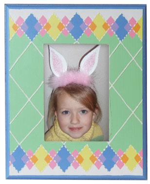 Argyle Plaid Easter Colors Frame