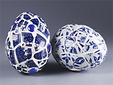 Blue Willow Mosaic Egg