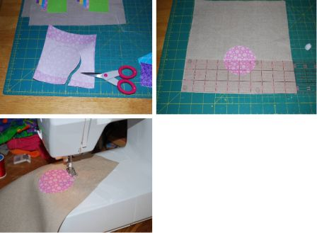 Easter Bunny Applique Pillow Step 2