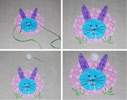 Easter Bunny Applique Pillow Step 4