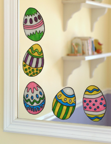 Window Or Mirror Easter Eggs