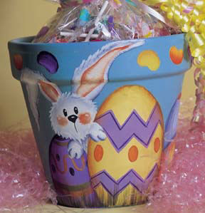 Jelly Bean Easter Bunny Pot