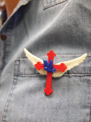 Peace, Faith, and Freedom Pin