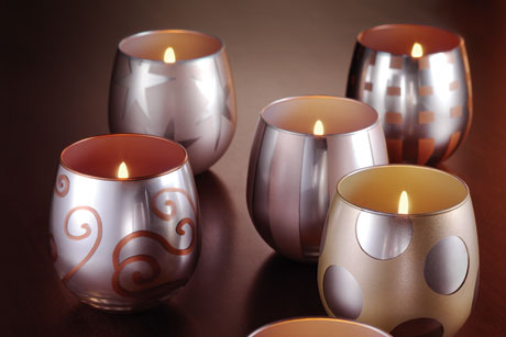 Holiday Painted Votive Candle Holder