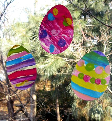 Easter Egg Window Silhouettes