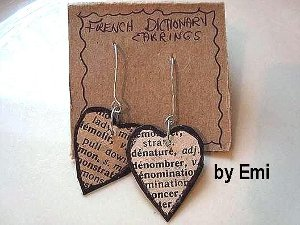 French Dictionary Earrings