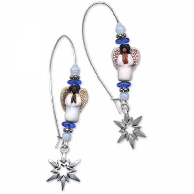 Snowflake Angel Earrings