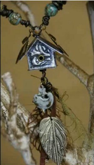Mini Birdhouse Charm