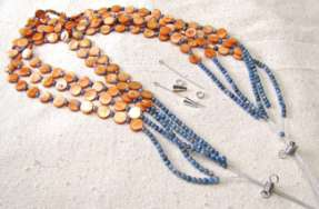 Multistrand Disc Bead Necklace