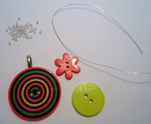 Simplest Button Necklace