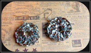 Upcycled Curling Ribbon Earrings