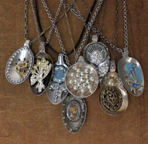 Vintage Spoon Pendants