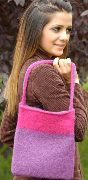 2-Color Felt Bag
