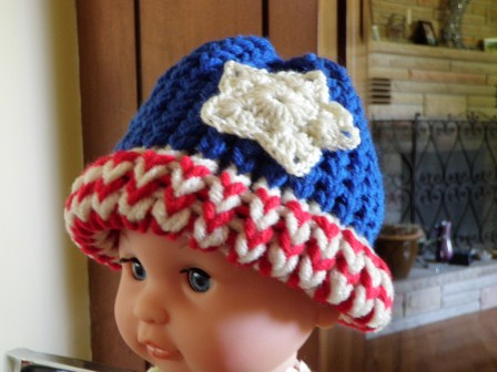 American Flag Loom Knit Hat Version 2