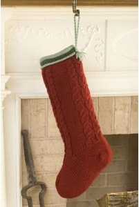 Thick Cables Christmas Stocking