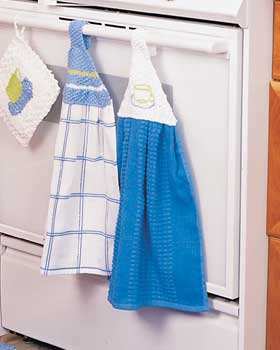 Kitchen Towel Hangers Knitting Pattern | FaveCrafts.com