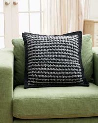 Houndstooth Knit Pillow