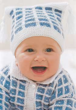 Knit Baby Hat and Cardigan