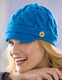 Knit Cable Newsboy Cap