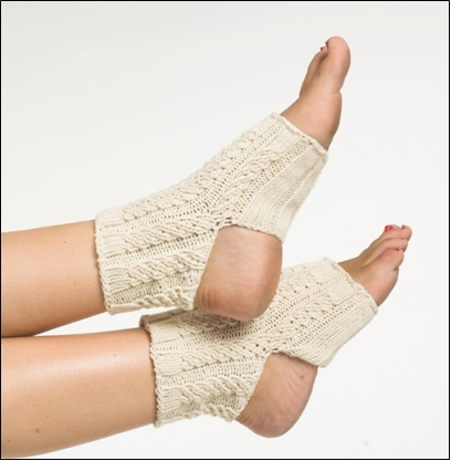 Knit Cable Yoga Socks