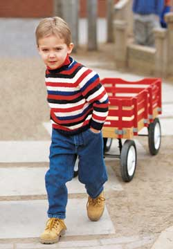 Knit Striped Sweater for Child