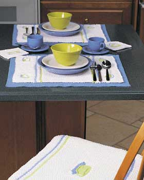Knit Teacup Place Mats and Coasters
