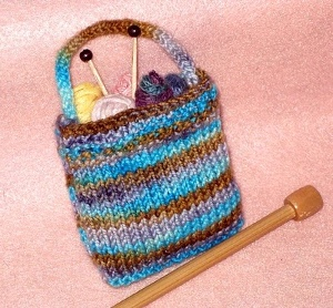 mini knitting bag