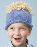Silly Hair Knit Hat for Boys