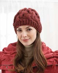 Snug n Chunky Cable Knit Hat