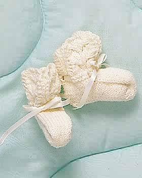 Sweet Knit Baby Booties