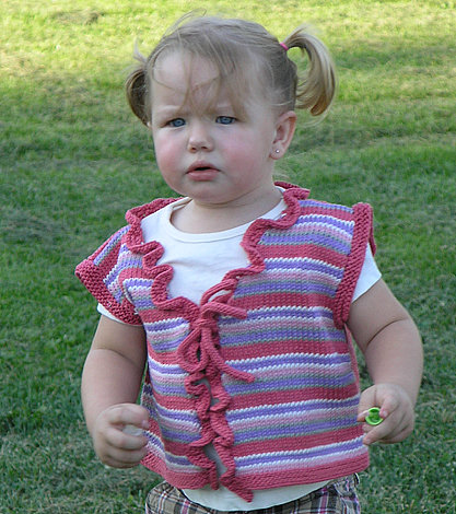 striped vest for girl