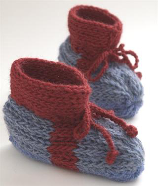 Warm Knitted Boot Slippers