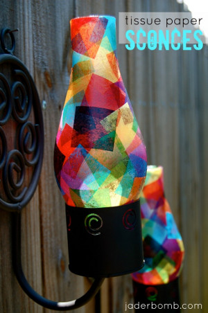 Make Your Own Tissue Paper Sconce