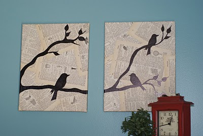 Finished Bird Wall Art