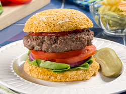 Easy English Muffin as burger