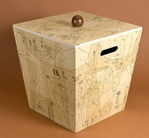 Decoupage Sewing Storage Box