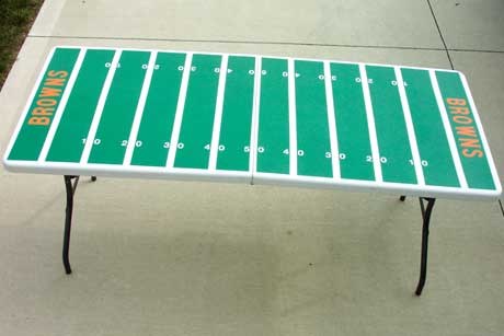 Football Field Tailgating Party Table