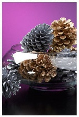 Glittering Holiday Pinecones
