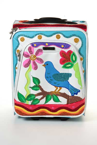 Springtime Painted Suitcase