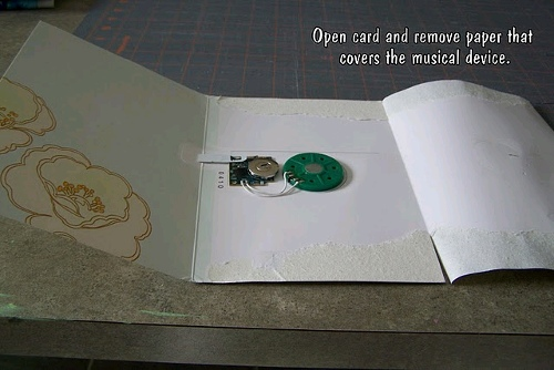 Repurposed Musical Card