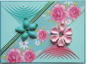 Spring Pink and Teal Card