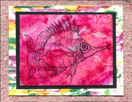 Stamped Trigger Fish Cards