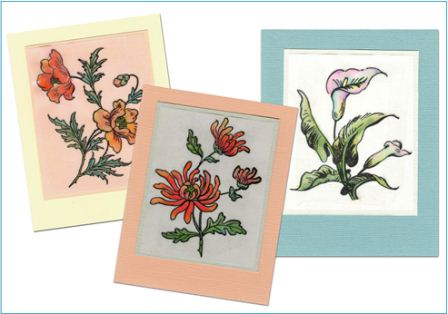 Watercolor Vellum Cards