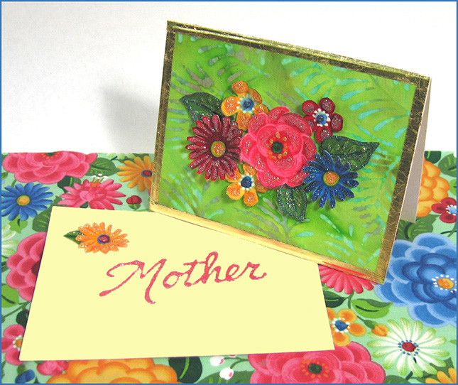 Dimensional Fabric Flower Card