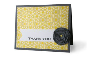 Fancy Flower Thank You Card