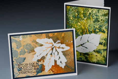 Marbled Leaf Cards