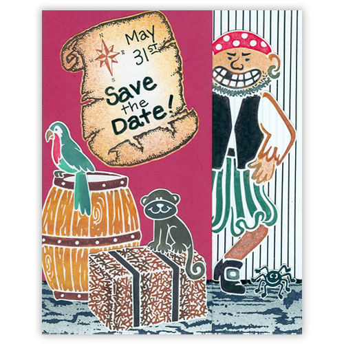 Pirate Invite Stamp Card