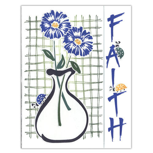 Blue Flowers Faith Card
