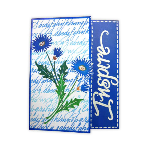 Blue Inspire Floral Card