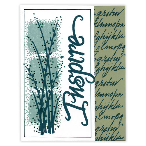 Green Inspire Stamp Card